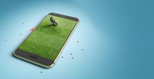 Mobile phone screen golf game concept