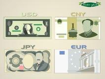 Minimal graphic design vector of paper money Royalty Free Stock Photos