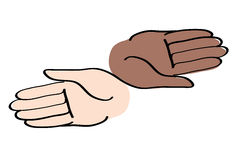 Minimal hands together symbol vector Royalty Free Stock Image
