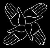 Minimal hands together symbol vector Stock Image