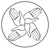 Minimal hands together symbol vector Royalty Free Stock Photography