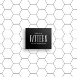 Minimal hexagonal line pattern background. Vector royalty free illustration