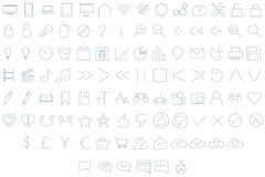 Minimal Icon Set Stock Photos