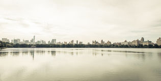 Minimal image of the new york skyline Royalty Free Stock Photos