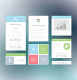 Minimal Info Graphic Flat Fresh Business Elements Stock Photo