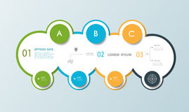 Minimal Infographic circle label design Royalty Free Stock Image