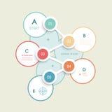 Minimal infographic circles design template Royalty Free Stock Image