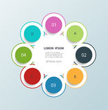 Minimal infographic circles design template Royalty Free Stock Image