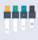 Minimal infographic elements step by step template design Royalty Free Stock Images