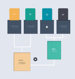 Minimal infographic elements step by step template design Stock Image
