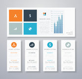 Minimal infographic flat business ui elements vect Royalty Free Stock Images