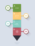 Minimal  infographic step by step Stock Photography