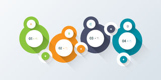 Minimal  infographic step by step . long shadow design Royalty Free Stock Photo