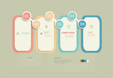 Minimal  infographic template design Royalty Free Stock Image