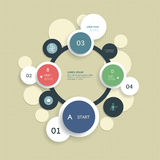 Minimal  infographic template design Stock Photography