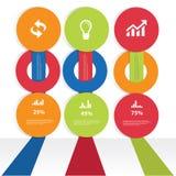 Minimal infographics design. Minimal infographics,Colorful version,white background Royalty Free Stock Photos