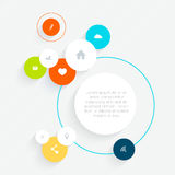 Minimal infographics design. Vector can be used for workflow lay Royalty Free Stock Photo