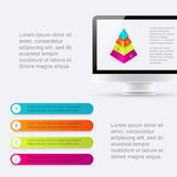 Minimal infographics design. Vector can be used for workflow lay Stock Images