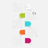 Minimal infographics design. Stock Image