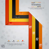 Minimal infographics design. Vector. Illustration Royalty Free Stock Photography