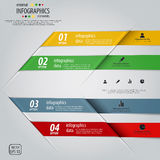 Minimal infographics design. Vector Royalty Free Stock Image