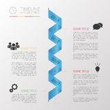 Minimal infographics design vector with spiral. Ribbon Royalty Free Stock Images