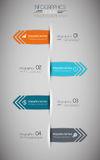Minimal infographics design. Vector Royalty Free Stock Images