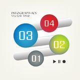 Minimal infographics. 4 steps. This is editable vector illustration Royalty Free Stock Images
