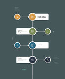 Minimal infographics time line design Stock Image