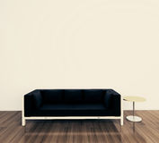 Minimal interior with single couch. Modern comfortable interior, 3d image Stock Photo
