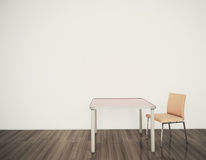 Minimal interior table and chairs Stock Image
