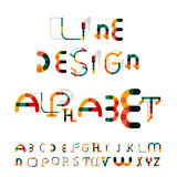 Minimal line design alphabet, font, typeface Stock Photo
