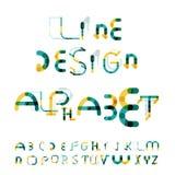 Minimal line design alphabet, font, typeface Royalty Free Stock Photos