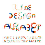 Minimal line design alphabet, font, typeface Stock Image