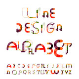 Minimal line design alphabet, font, typeface Stock Photography