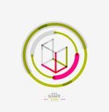 Minimal line design logo, business icon, block Stock Images