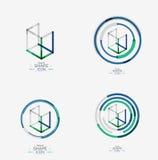 Minimal line design logo, business icon, block Stock Photography