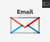 Minimal line design logo, email icon Royalty Free Stock Images