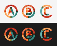 Minimal line design logo set Stock Photo