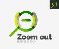 Minimal line design logo, zoom icon Royalty Free Stock Photos