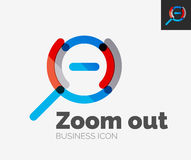 Minimal line design logo, zoom icon Stock Image