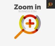 Minimal line design logo, zoom icon Stock Photos
