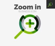 Minimal line design logo, zoom icon. Minimal line design logo, business zoom icon, branding emblem Stock Image