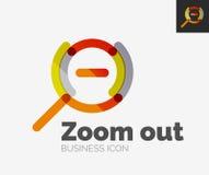 Minimal line design logo, zoom icon Royalty Free Stock Image