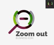 Minimal line design logo, zoom icon Stock Photo