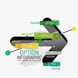Minimal line design office web infographics Stock Images