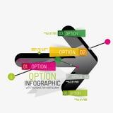 Minimal line design office web infographics Royalty Free Stock Image