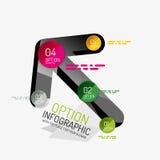 Minimal line design office web infographics Royalty Free Stock Photo