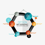 Minimal line design office web infographics Stock Image