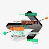 Minimal line design office web infographics Stock Photography